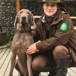 Caroline Donhauser mit Hund